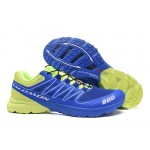 Salomon S-LAB Sense Speed Trail Running Shoes In Blue Green