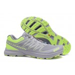 Salomon S-LAB Sense Speed Trail Running Shoes In Gray Green