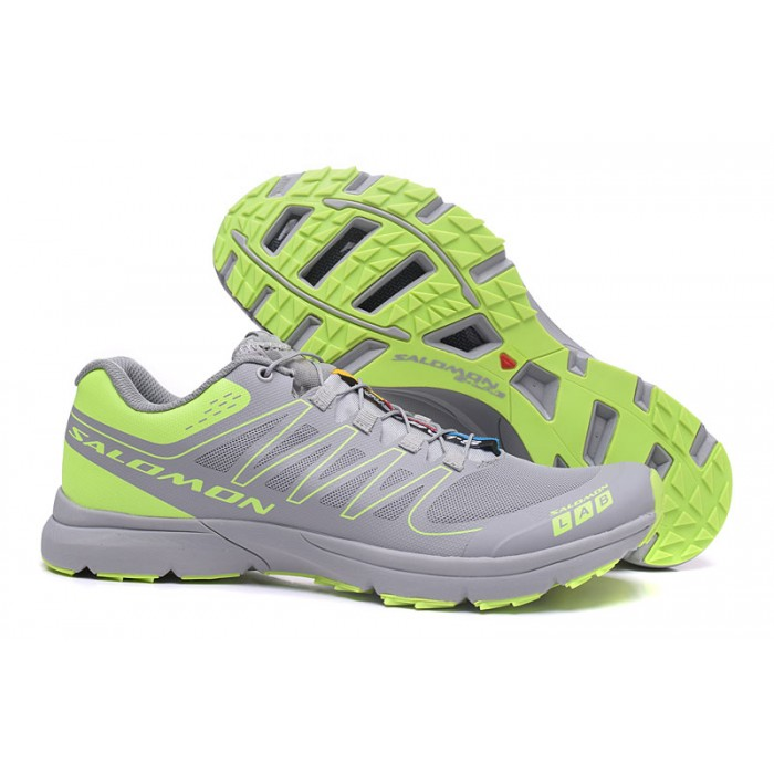 Salomon S-LAB Sense Speed Trail Running Shoes In Gray Green