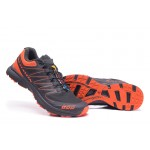 Salomon S-LAB Sense Speed Trail Running Shoes In Gray Orange
