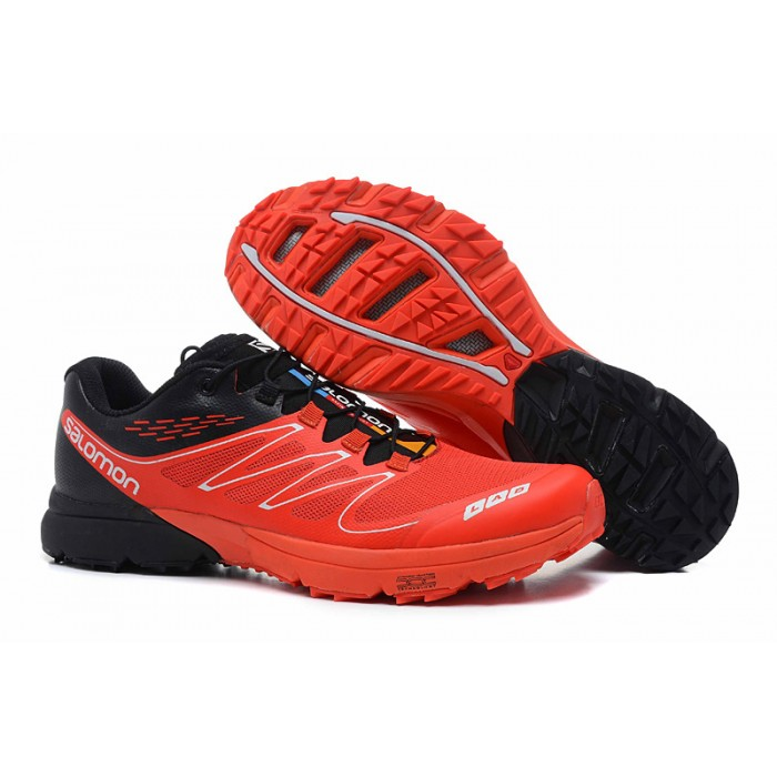 Salomon S-LAB Sense Speed Trail Running Shoes In Red Black