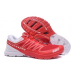 Salomon S-LAB Sense Speed Trail Running Shoes In Red White