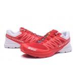 Salomon S-LAB Sense Speed Trail Running Shoes In Red White