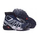 Salomon Snowcross CS Trail Running Shoes In Blue White