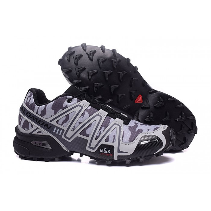 Men's Salomon Speedcross 3 CS Trail Running Shoes In Black Camouflage