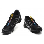 Men's Salomon Speedcross 3 CS Trail Running Shoes In Black Fluorescent