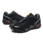 Men's Salomon Speedcross 3 CS Trail Running Shoes In Black Gray