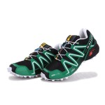 Men's Salomon Speedcross 3 CS Trail Running Shoes In Black Green