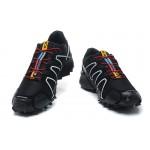 Men's Salomon Speedcross 3 CS Trail Running Shoes In Black White Red