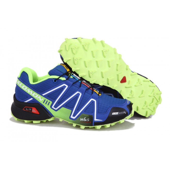 Men's Salomon Speedcross 3 CS Trail Running Shoes In Blue