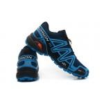 Men's Salomon Speedcross 3 CS Trail Running Shoes In Blue Black