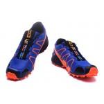 Men's Salomon Speedcross 3 CS Trail Running Shoes In Blue Orange