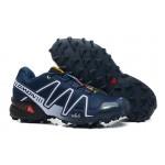 Men's Salomon Speedcross 3 CS Trail Running Shoes In Blue White
