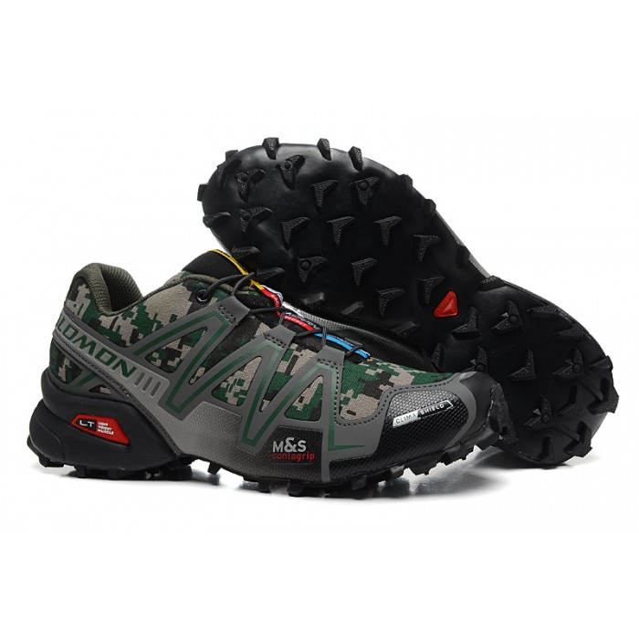 Men's Salomon Speedcross 3 CS Trail Running Shoes In Camouflage
