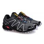 Men's Salomon Speedcross 3 CS Trail Running Shoes In Deep Gray