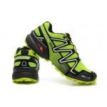 Men's Salomon Speedcross 3 CS Trail Running Shoes In Fluorescent Green Silver