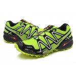 Men's Salomon Speedcross 3 CS Trail Running Shoes In Fluorescent Green Silver