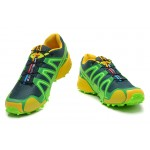 Men's Salomon Speedcross 3 CS Trail Running Shoes In Green Yellow