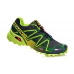 Men's Salomon Speedcross 3 CS Trail Running Shoes In Grey Green