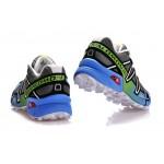 Men's Salomon Speedcross 3 CS Trail Running Shoes In Grey White Blue