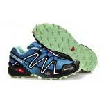 Men's Salomon Speedcross 3 CS Trail Running Shoes In Lake Blue