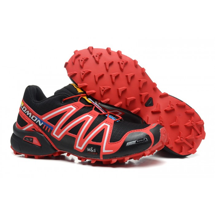 Men's Salomon Speedcross 3 CS Trail Running Shoes In Red Black