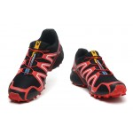 Men's Salomon Speedcross 3 CS Trail Running Shoes In Red Black
