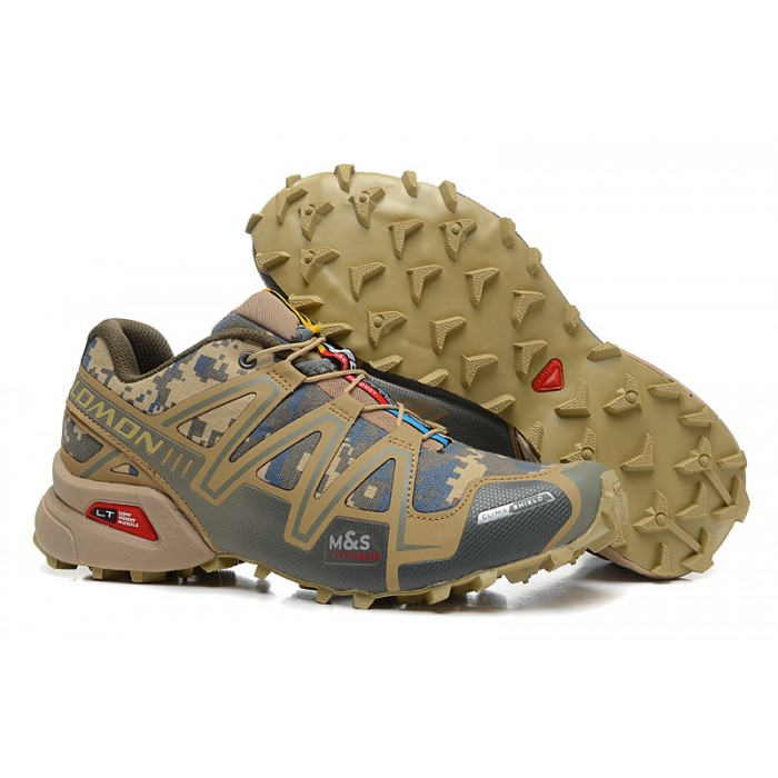 Men's Salomon Speedcross 3 CS Trail Running Shoes In Sand Camouflage