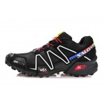 Men's Salomon Speedcross 3 CS Trail Running Shoes In Silver Black