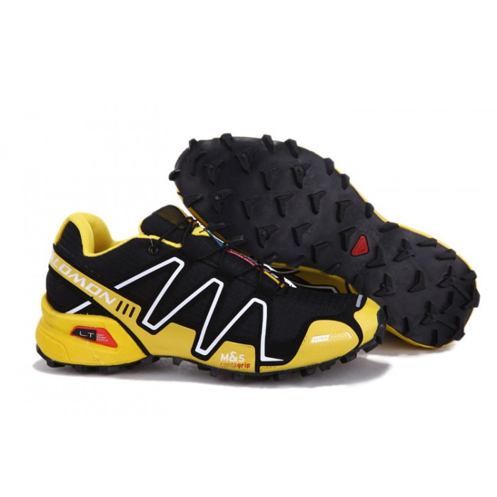 Men's Salomon Speedcross 3 CS Trail Running Shoes In Yellow Black