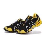 Men's Salomon Speedcross 3 CS Trail Running Shoes In Yellow Black