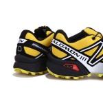 Men's Salomon Speedcross 3 CS Trail Running Shoes In Yellow Silver