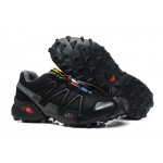 Women's Salomon Speedcross 3 CS Trail Running Shoes In Black Gray