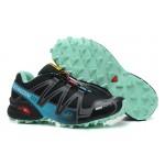 Women's Salomon Speedcross 3 CS Trail Running Shoes In Black Lake Blue
