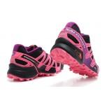 Women's Salomon Speedcross 3 CS Trail Running Shoes In Black Pink