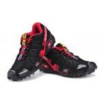 Women's Salomon Speedcross 3 CS Trail Running Shoes In Black Red