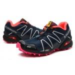 Women's Salomon Speedcross 3 CS Trail Running Shoes In Black Rose Red