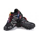 Women's Salomon Speedcross 3 CS Trail Running Shoes In Black Silver