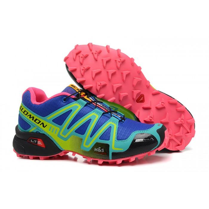 Women's Salomon Speedcross 3 CS Trail Running Shoes In Blue Green
