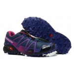 Women's Salomon Speedcross 3 CS Trail Running Shoes In Blue Purple