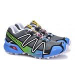 Women's Salomon Speedcross 3 CS Trail Running Shoes In Gray Blue