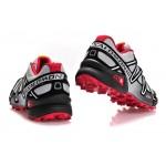 Women's Salomon Speedcross 3 CS Trail Running Shoes In Grey Black Red
