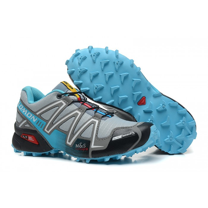 Women's Salomon Speedcross 3 CS Trail Running Shoes In Grey Lack Blue