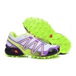 Women's Salomon Speedcross 3 CS Trail Running Shoes In Grey Purple