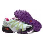 Women's Salomon Speedcross 3 CS Trail Running Shoes In Lake Blue Purple