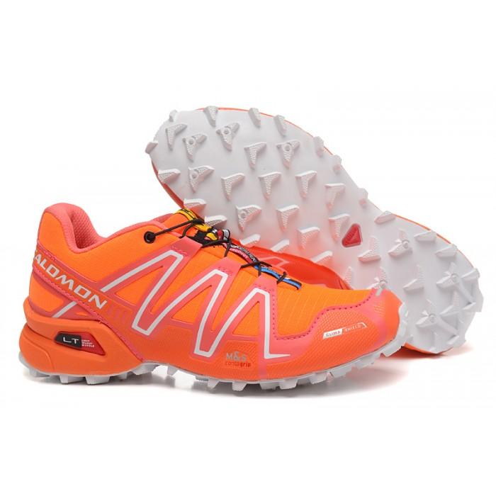 Women's Salomon Speedcross 3 CS Trail Running Shoes In Orange