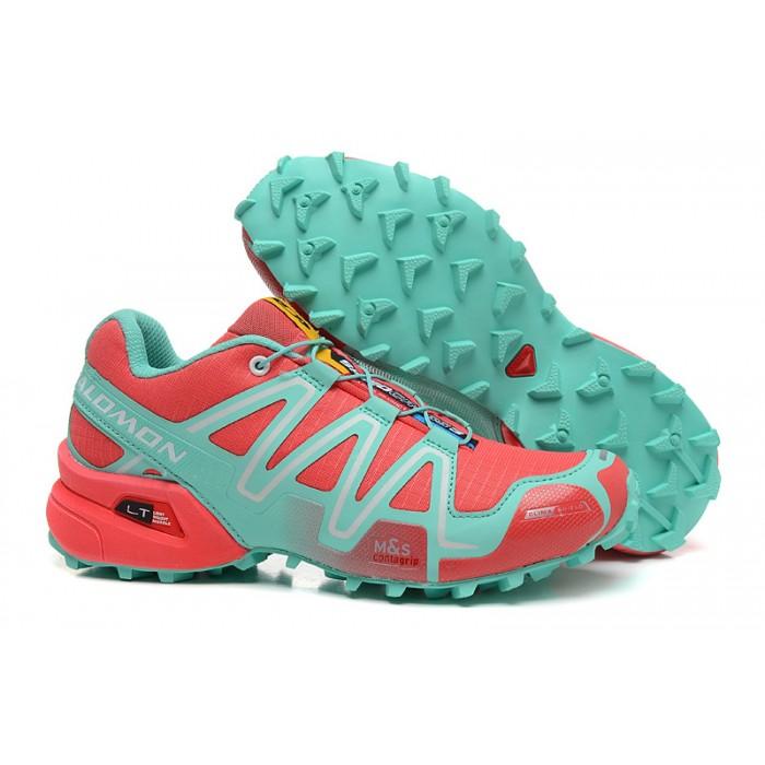 Women's Salomon Speedcross 3 CS Trail Running Shoes In Orange Lake Blue