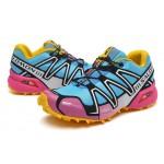 Women's Salomon Speedcross 3 CS Trail Running Shoes In Pink Yellow