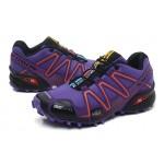 Women's Salomon Speedcross 3 CS Trail Running Shoes In Purple Black
