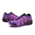 Women's Salomon Speedcross 3 CS Trail Running Shoes In Purple Orange